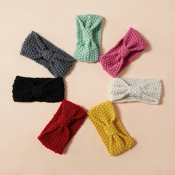 Baby / Toddler Girl Sweet Solid Bowknot Knitted Headband