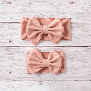 Bowknot Solid Headband for Mom and Me