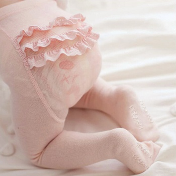 Baby / Toddler Ruffled Solid Tights
