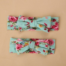 Mommy and Me Multi Color Floral Print Headbands