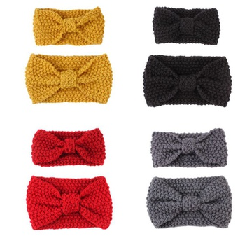 Mommy and Me Multi Color Bow Knit Headbands