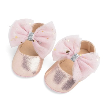 Baby / Toddler Girl Stars Decor Bowknot Solid Prewalker Shoes