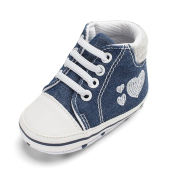 Baby / Toddler Heart Print Canvas Prewalker Shoes