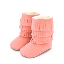 Baby / Toddler Fashionable Solid Fringed Prewalker Ankle Boots