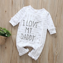 Baby I LOVE MY DADDY or THE APPLE OF MY MUMMY'S EYE Letter Print Jumpsuits