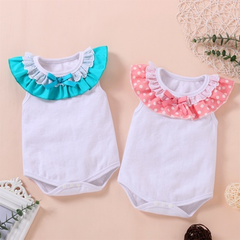 1pc Baby Girl Cotton casual Rompers & Bodysuits