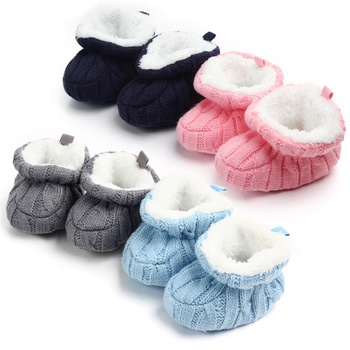 Baby / Toddler Cute Knitted Elasticized Prewalker Cotton Boots