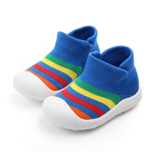 Toddler Boy / Girl Stylish Rainbow Decor Knitted Athletic Shoes