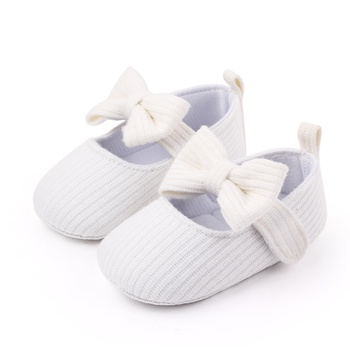 Baby / Toddler Bowknot Striped Velcro Closure First Walkers Shoes