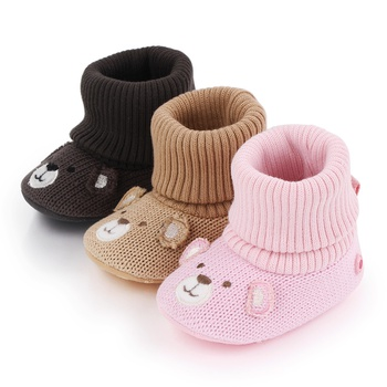 Baby / Toddler Embroidery Knitted Shoes