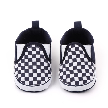 Baby / Toddler Grid Slip-on Prewalker Shoes