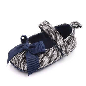 Baby / Toddler Bowknot Striped Flats Prewalker Shoes