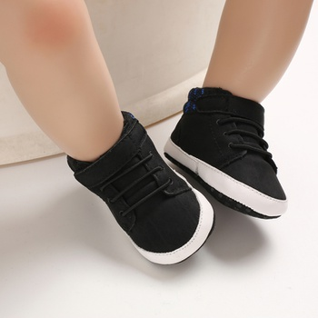 Baby / Toddler Boy Stylish Solid Velcro Ankle Prewalker Shoes