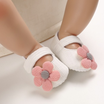 Baby / Toddler Girl Pretty 3D Floral Decor Velcro Shoes