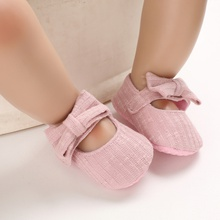 Baby / Toddler Girl Adorable Bowknot Decor Solid Velcro Princess Shoes