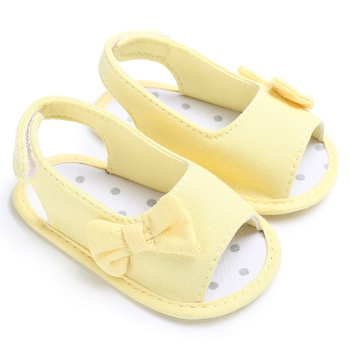 Baby / Toddler Girl Pretty Solid Bowknot Sandals