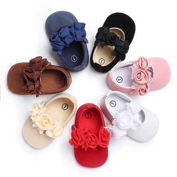 Baby / Toddler Flower Decor Princess Solid Shoes
