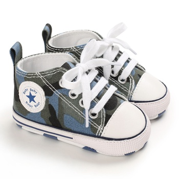 Baby / Toddler Camouflage lace-up Canvas Prewalker Shoes