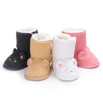 Baby / Toddler Solid Animal Decor Polarfleece Thermal Prewalker Shoes
