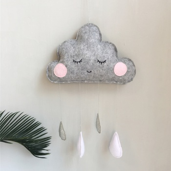 Raindrop Tasseled Cloud Design Baby Room Decor