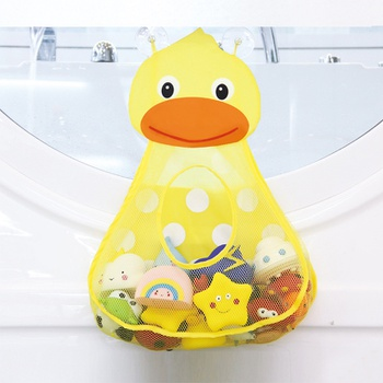 Baby Shower Bath Toy Storage Bag Little Duck Little Frog Net Bathroom Organizer