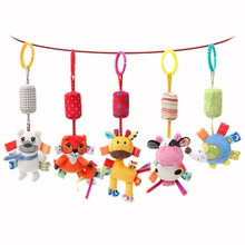 Baby Hanging Rattle Toys Soft Activity Crib Stroller Toys Animal Shape for Toddlers Baby Girls Baby Boys Height 12.48 inch around