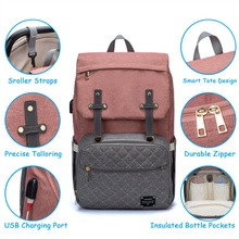 New Multicolorful Diaper Bag Backpack Large Capacity, Durable Maternity Travel Backpack for Baby Care