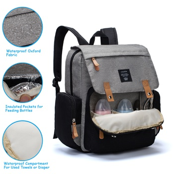 Multicolorful Diaper Bag Backpack Large Capacity, Durable Maternity Travel Backpack for Baby Care