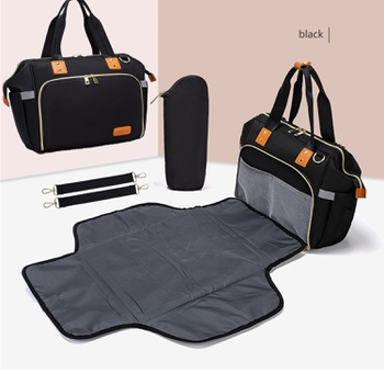 LEQUEEN Diaper Bag Stylish Large Capacity Waterproof Maternity Travel Bag for Baby Care (Black, Gray, Blue)
