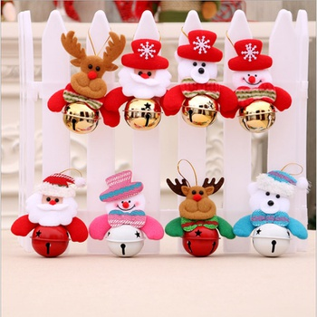 Christmas Decoration Pendant Accessories Christmas Tree Doll Bell Old Man Snowman Bell Pendant Pet Bell Toy Decoration