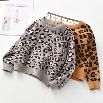 Stylish Leopard Print Sweater