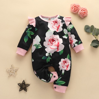 Baby Floral Ruffled Jumpsuits