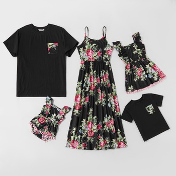 Mosaic Family Matching Floral Tank Dresses - Rompers - Tops