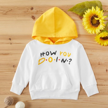 Baby / Toddler Letter Print Hoodie