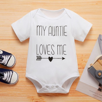 Baby MY AUNTIE LOVES ME Bodysuits