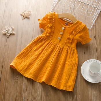 Baby / Toddler Girl Casual Solid Dresses