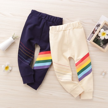 Baby / Toddler Boy Rainbow Striped Solid Pants