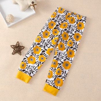 Baby / Toddler Girl Floral Print Casual Harem Pants