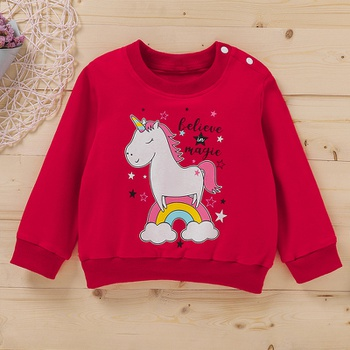 Baby Girl casual Unicorn & Unicorn Pullovers Cotton Fashion Long Sleeve Infant Clothing Outfits