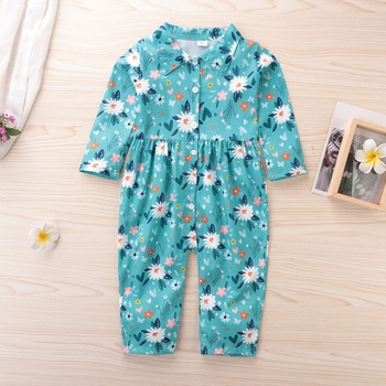 Baby / Toddler Daisy Floral pattern long-sleeve Jumpsuit