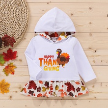 Baby Girl casual Long-sleeve Cotton Hooded Pullovers & Hoodies