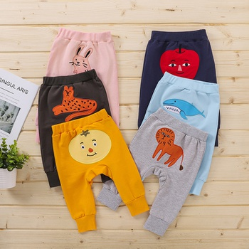 1-pc Baby Unisex casual Cotton  Animal Harem pants Casual Pants & Sweatpants & Harem Pants