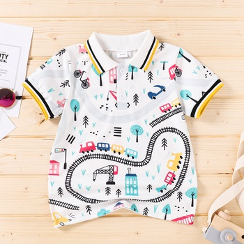 Baby / Toddler Boy Car Print Polo Tee