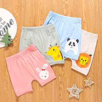 1pc Baby Cotton  Unisex casual Animal Shorts