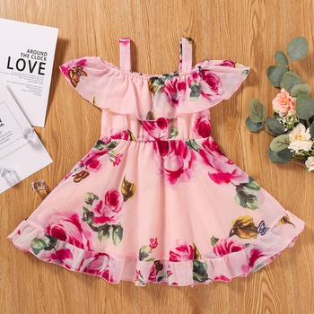 1pc Spring Baby Girl Floral Sweet Dress