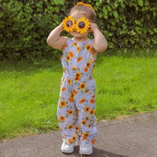 Baby / Toddler Sunflower Bowknot One-piece