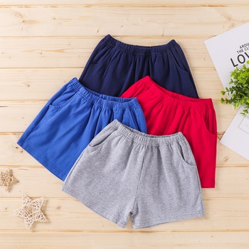 1pc Baby Cotton Casual Shorts Solid Cotton Baby Clothes