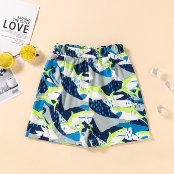 1pc Toddler Boy casual Sea & Shark Shorts