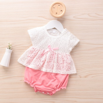 Baby Elegant Lace Decor Bodysuit