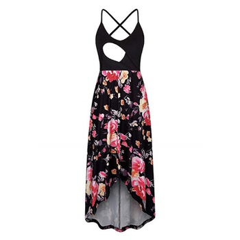 Sassy Floral Print Sleeveless Nursing Dress